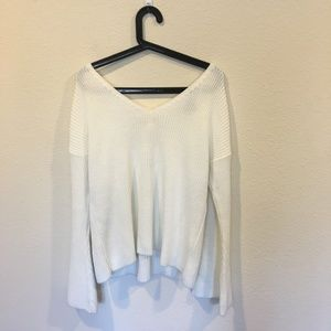 Topshop white knit sweater